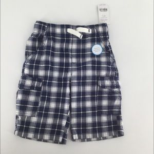 Carter's blue and white checkerboard cargo shorts